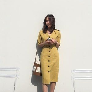 Classic Yellow/mustard summer dress